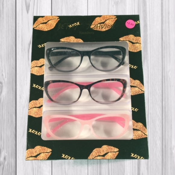 20a74cc25bed Betsey Johnson Accessories - Betsey Johnson Reading Glasses - Readers +200